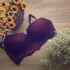 Maroon Fall VS PINK bra